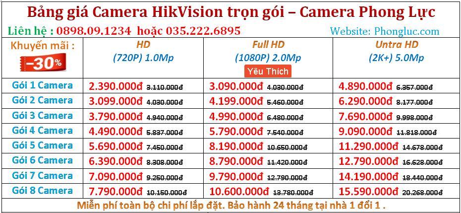 gia camera Hikvision kien thuy Hai Phong