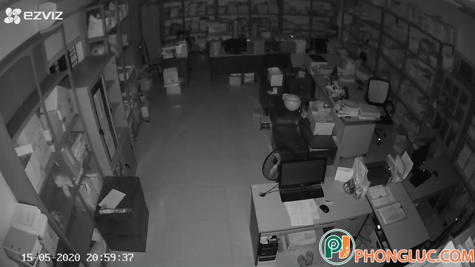 Hình ảnh quan sát ban đêm Camera C1C Full HD