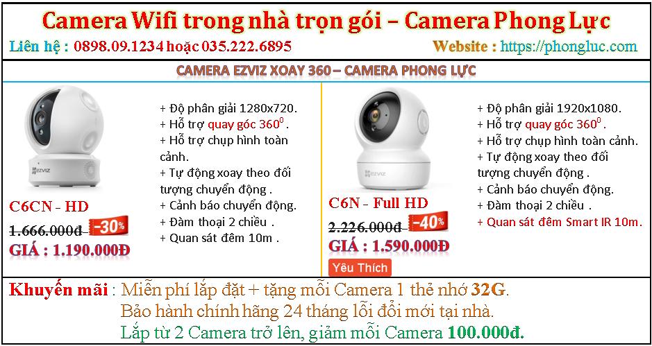 Bao gia Camera xoay 360